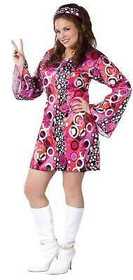 New Feelin' Groovy Ladies Plus Size 60's Costume by Fun World 120255 Costumania