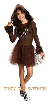 CHEWBACCA Costume Dress Girl Rubie's Disney Star Wars Chewie Sizes 8 10 12 - Chewie Kostüm
