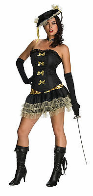 Sexy Halloween Adult Women's French Revolution Three Musketeer Costume w Hat