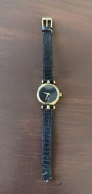 Authentic Gucci Vintage Wrist Watch Ladies Women Quartz Black Classic