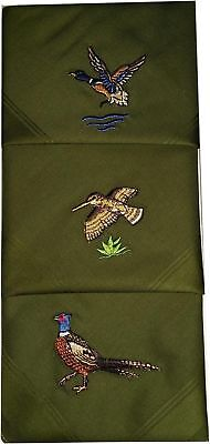 Hochwertige Herren Taschentücher mit Jagdmotiv bestickt Taschentuch Schnupftuch