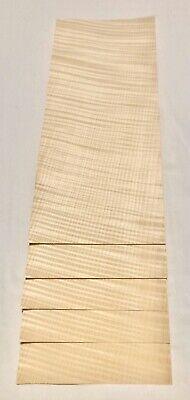 Curly Maple Wood Veneer 5 Sheets 16 X 7 3.5 Sq Ft