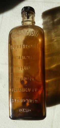 Antique CHAMPION CO. Embalming Fluid Bottle