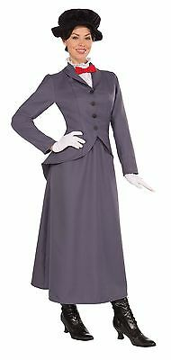Nanny Costume Mary Poppins Victorian One Size Woman Book Character Week Fancy Dr (Mary Poppins Characters Costumes)