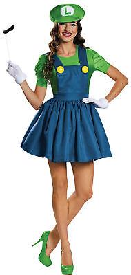 uxe Erwachsene Kostüm Super Mario Brothers Halloween (Luigi Deluxe Kostüm)
