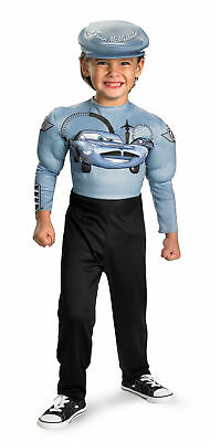 Cars 2 Finn Mcmissile Deluxe Muscle Child Costume Jumpsuit Halloween Disguise