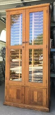 Used, Antique E.H. Sheldon Oak Industrial/Lab Filing Cabinet  for sale  North Las Vegas