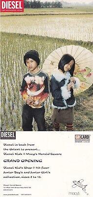 DIESEL KIDS OPENING AT MACYS UNUSED ADVERTISING COLOUR POSTCARD (e)