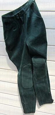 Pro Cheval Reithose Bundfalte Taschen Cord Baumwolle dunkelgrün 36/68 L 90 neu