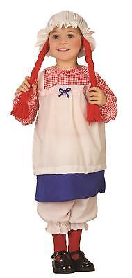 Lil' Rag Doll Girl Toddler Costume 2-4T (Toddler Rag Doll Costume)