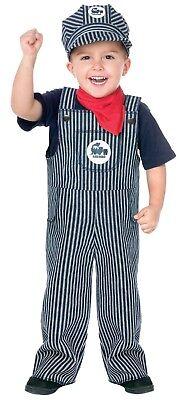 Fun World Train Engineer Conductor Toddler Boys Halloween Costume - Boy Train Conductor Costume