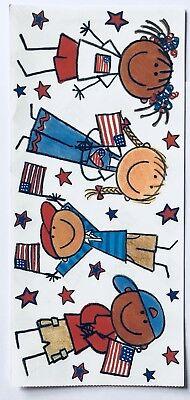 4TH JULY BIG PATRIOTIC KIDS THEMED 5X12 INCH SHEET ME & MY BIG IDEAS STICKERS - Theme Ideas