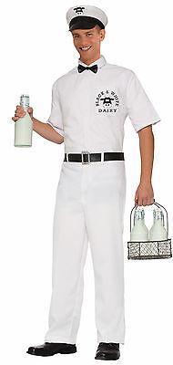 Men's Milkman Costume 1950's Delivery Man Adult Size XLarge](Milkman Adult)