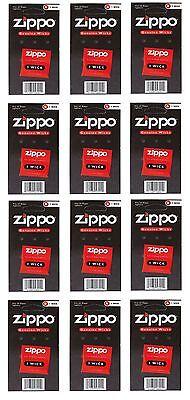 ZIPPO Docht Ersatzdocht für Zippo Feuerzeug 12 Stück NEU OVP