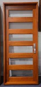 Solid Cedar 6 slat French Front Door 900w x 2100h Bathurst Bathurst City Preview