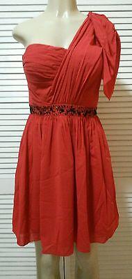 New! Jessica Simpson Dress, Short Sleeve One Shoulder Black Sequin at Waist