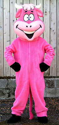 Pink Cow Mascot Costume Adult Size Suitable for Schools and Businesses - Cow Costume For Adults