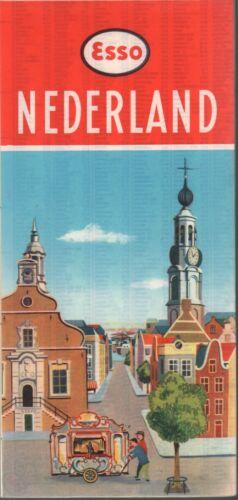 1958 ESSO Road Map: Nederland NOS