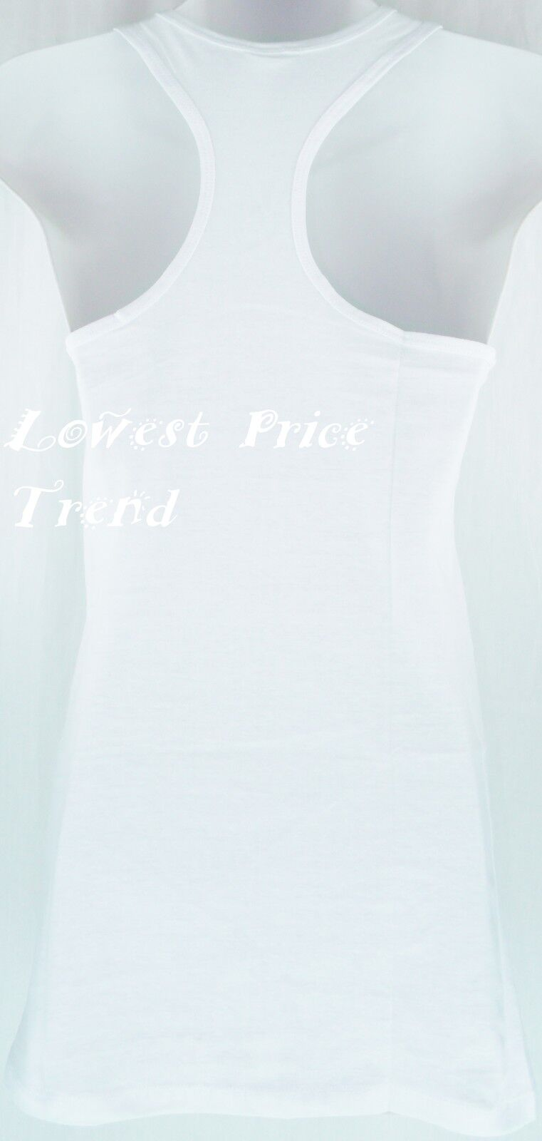 S M L Women Cotton RACERBACK TANK TOP Soft Stretchy Seamless Jersey Tank TT402