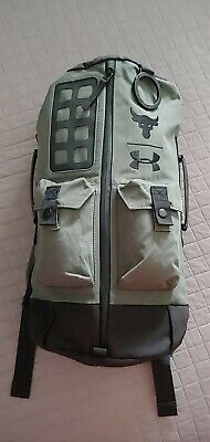 Under Armour Project Rock Duffle Bag BackPack Military Olive Green NWOT