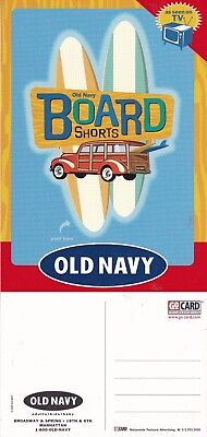 OLD NAVY BOARD SHORTS CLOTHING UNUSED ADVERTISING COLOUR  POSTCARD (a)