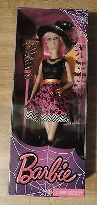 2014 Halloween Barbie with pink highlights and witch outfit - New