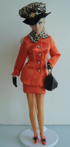 Barbie Clothes/Fashions Fancy Dress Suit W/ Feathered Hat And Accessories NEW!!
