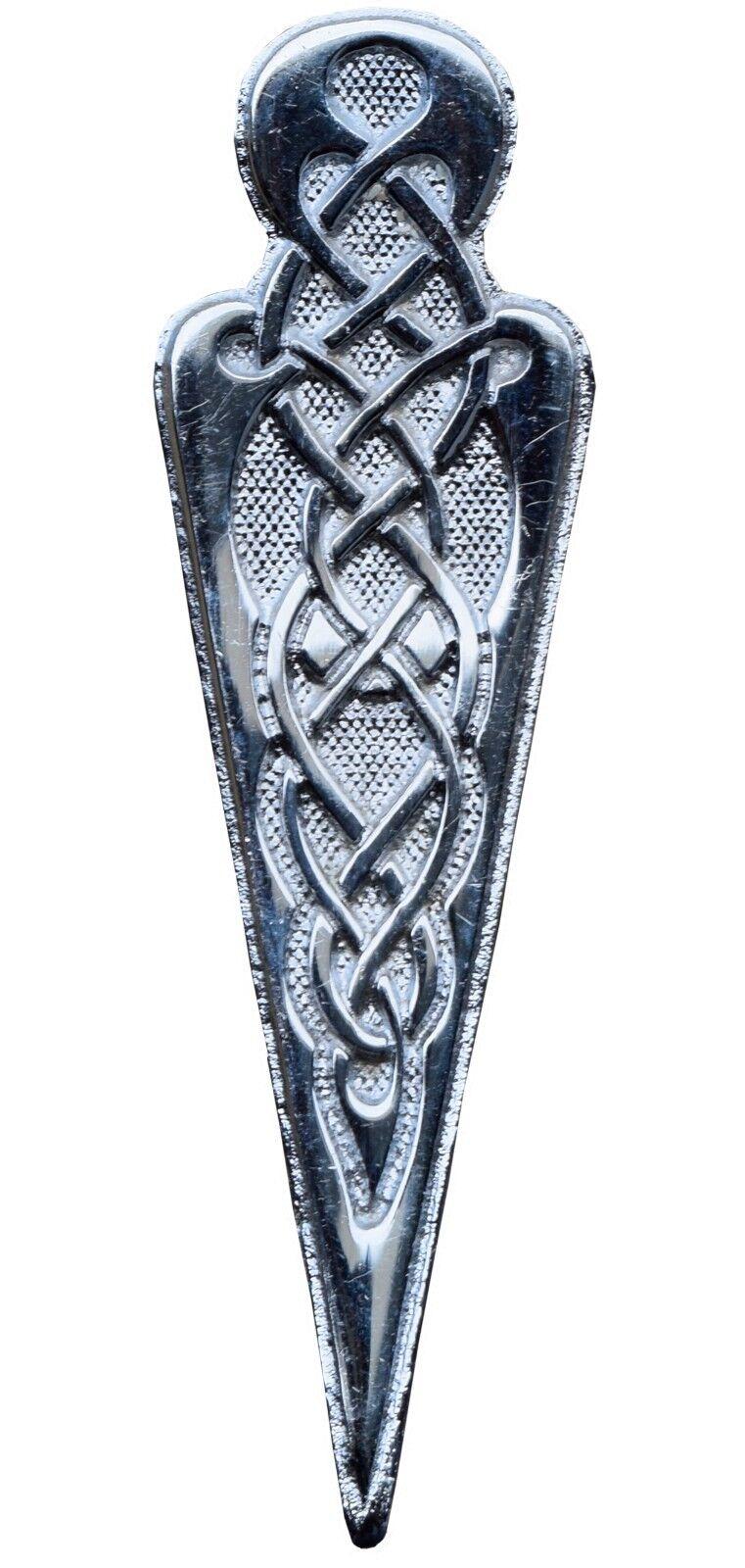 Scottish Kilt Pin Silver Antique Finish Highland Celtic Head Kilt Pin
