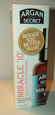 ARGAN SECRET MIRACLE 10 HAIR ELIXIR LEAVE IN SPRAY TREATMENT 180ml BIGGER SIZE