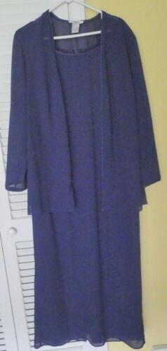 """Patra woman"" dress and jacket - size 18 - Indigo Blue"
