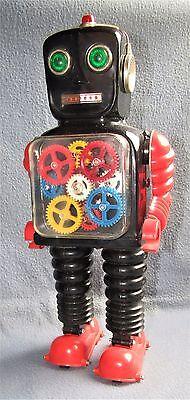 BLINK-A-GEAR-ROBOT 1960's JAPAN by TIAYO Co. NEAR-MINT ( WORKING )