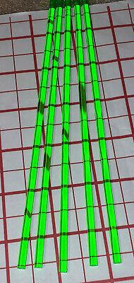 5 Clear Green 14 Diameter 18 Inch Long Acrylic Plexiglass Plastic Color Rod