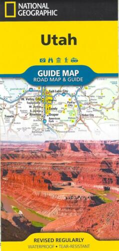 Map of Utah, by National Geographic Maps