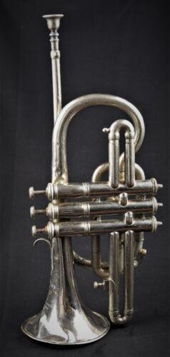 Old Cornet Trumpet from Couesnon & Cia Antigua Trompeta de 1900 Suitcase