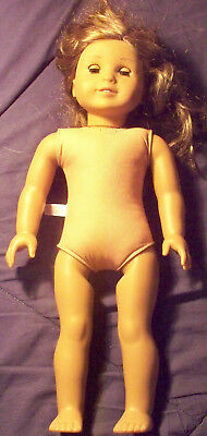 "American Girl doll Dark Blond/Blue 17 & 1/2"" ~ doll has Dark Sun Tan complexion"