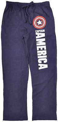 Blue Mens Sleepwear - Captain America Pajama Pants Sleepwear Marvel Comics Mens Blue