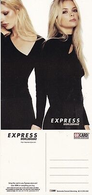 EXPRESS WORLD BRANDS UNUSED ADVERTISING COLOUR  POSTCARD