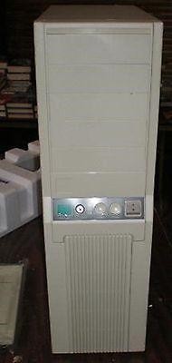 AT Computer Case Enclosure + Power Supply Build Vintage 386 486 Pentium Nice NEW