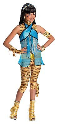 Monster High Kinderkostüm Cleo de Nile Perücke Karneval Fasching Kostüm , (K) (Monster High Cleo De Nile Kind Kostüm)