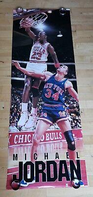 5411be60ada2 vtg NBA Chicago Bulls air Michael Jordan shoes nike mvp starline Costacos  poster