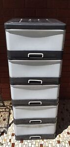 5 Tier Drawer Storage Organiser Plastic great condition Panania Bankstown Area Preview