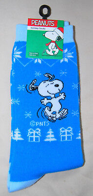 BRAND NEW Peanuts brand SNOOPY Adult Holiday SOCKS with FREE SHIPPING !! - Snoopy Peanuts