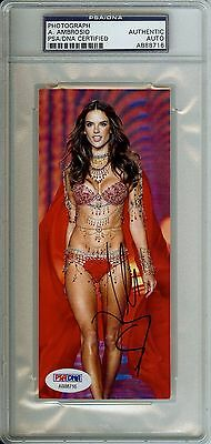 Super Hot Alessandra Ambrosio Fashion Show Auto Signed PSA DNA Slabbed Photo Hot
