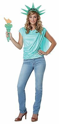 Miss Statue Of Liberty Shirt Top Costume Adult Women (Womens Statue Of Liberty Costume)