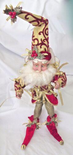 "Mark Roberts Santa Fairy Faerie Jingle Bells Elf Poseable Figurine 14"" Tall L@@K"