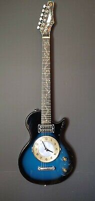 Unique Hand Painted Vintage Guitar Wall Clock Hand Crafted In USA One Of A Kind