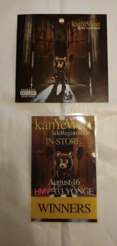 "Kanye West, ""Late Registration"" Signed CD Cover + HMV Contest Winner Pass, 2005"