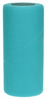 25 Yard Turquoise Fabric Tulle - Falk Fabrics Tulle Spool for Decoration, 6-Inch by 25-Yard, Aqua