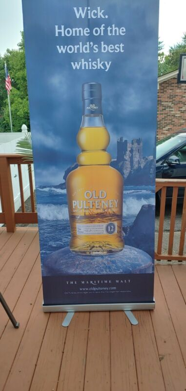 Old Pulteney Scotch Retractable Sign With Case