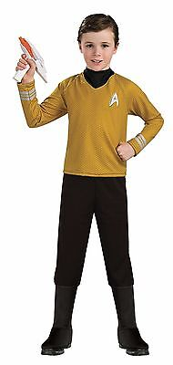 Star Trek Costumes For Kids (Captain Kirk Shirt for Kids size 8-10 Star Trek Deluxe New by Rubies)